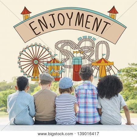 Enjoyment Enjoy Life Appreciate Pleasure Like Love Concept