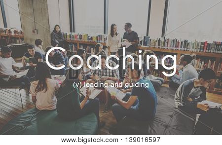 Coaching Educating Instructor Management Concept
