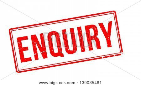 Enquiry Rubber Stamp