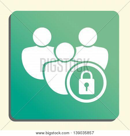 User Lock Icon In Vector Format. Premium Quality User Lock Symbol. Web Graphic User Lock Sign On Gre