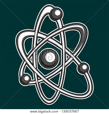 Atom logo. The stylized image of the atom