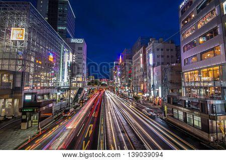 SENDAI, JAPAN - SEPTEMBER 8: View of the city at September 8, 2013 in Sendai, Japan. Sendai is a modern city and the capital of Miyagi Prefecture.