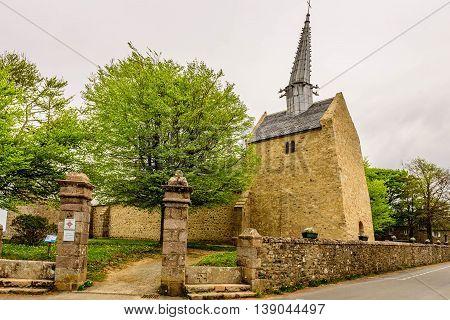 Medival church, Cote du Granit Rose, Bittany, France
