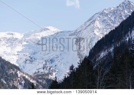 deep wintery mountains in Ramsau - Austria