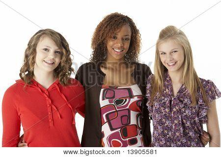 Portrait Of Three Teenage Girls