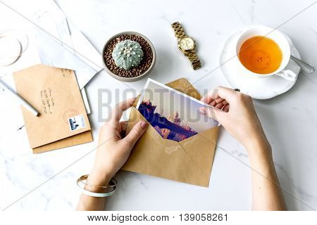 Postcard Letters Tea Desk Concept