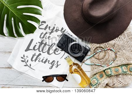 Enjoy Little Things Simplicity Minimal Normal Life Concept poster