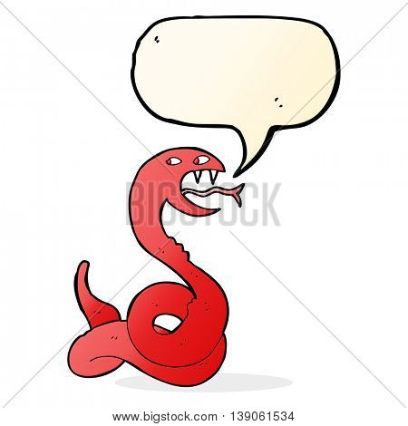 cartoon hissing snake with speech bubble poster