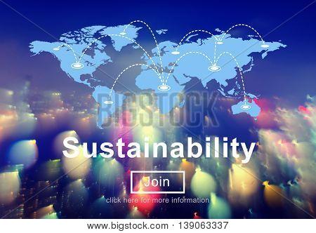 Sustainability Awareness Ecology Economy Viable Concept