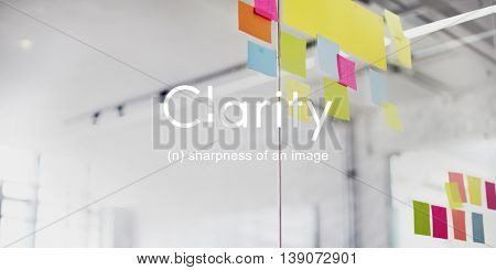 Clarity Design Clear Creativity Visible Simple Concept