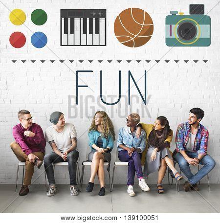 Fun Funny Enjoy Entertainment Interesting Happy Concept