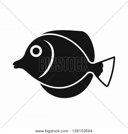 Tang fish, Zebrasoma flavescens icon in simple style isolated vector illustration