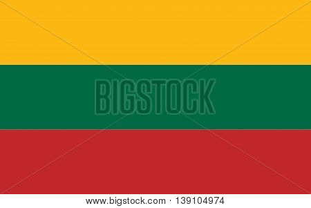 Lithuania Flag original color and size vector