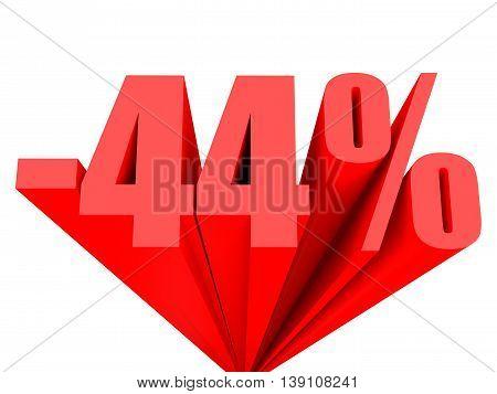 Discount 44 Percent Off Sale.