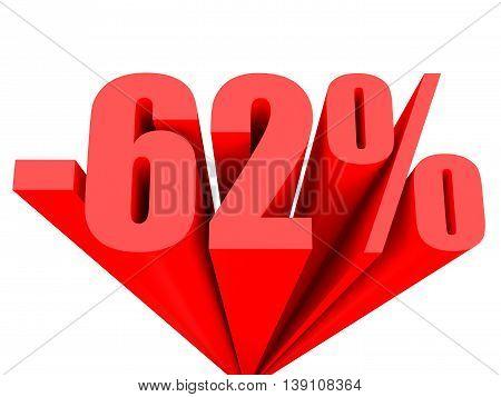 Discount 62 Percent Off Sale.