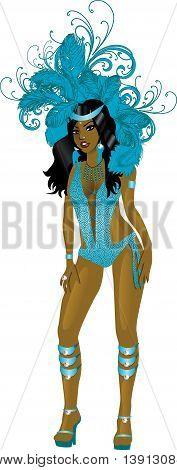 Carnival Teal Girl