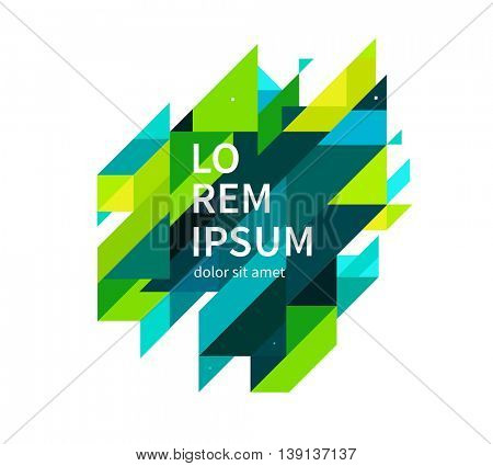 Minimalistic design element. modern diagonal Geometric Abstract background. Blue,yellow and green lines & triangles. vector-stock illustration