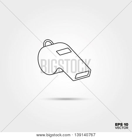 whistle of the referee Line Icon Vector