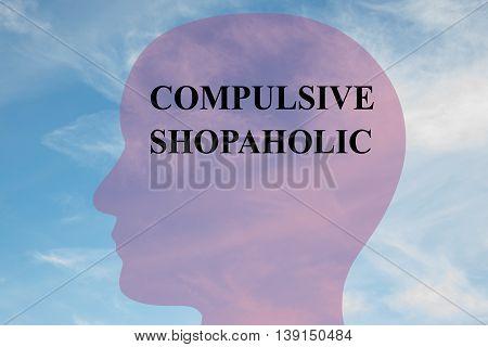 Compulsive Shopaholic Mental Concept