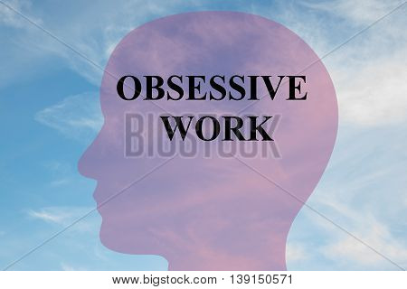 Obsessive Work Mental Concept