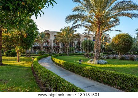 Pathway In Hurgarda Resort, Egypt