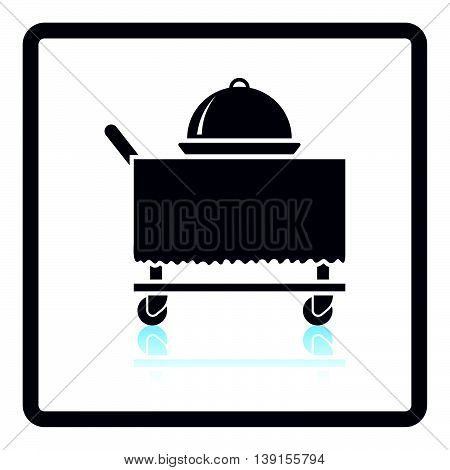 Restaurant  Cloche On Delivering Cart Icon