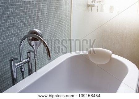Bathtub In Modern Bathroom