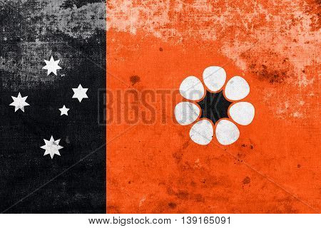 Flag Of Northern Territory, Australia, With A Vintage And Old Lo