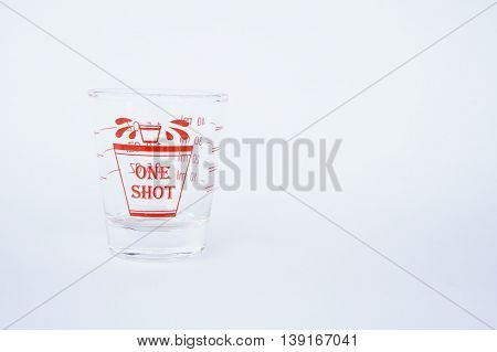 ounce glass, a glass measuring cup, One shot