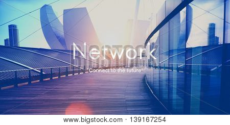 Network Connect Future Strategy Innovation Concept