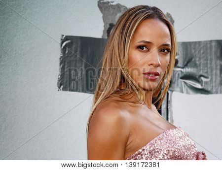Dania Ramirez at the Los Angeles premiere of 'Lights Out' held at the TCL Chinese Theater in Hollywood, USA on July 20, 2016.