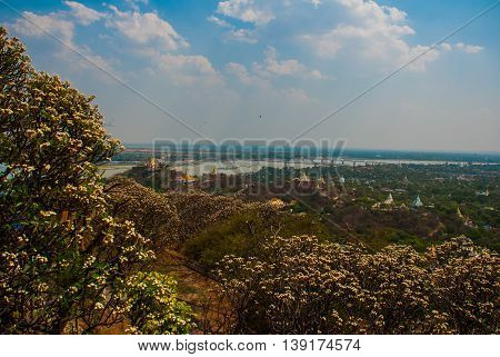 View Of The Small Town Sagaing, Myanmar