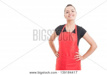 Confident Smiling Employee With Positive Attitude
