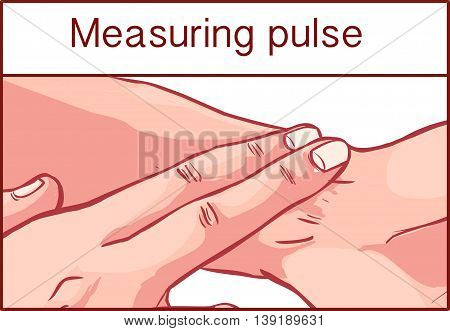 vector illustraition of a pulse measurement .