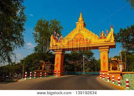 Golden Gate By The Road. Sagaing, Myanmar