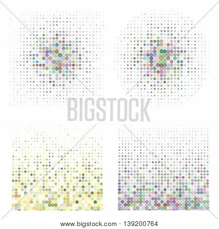 Halftone illustrator. Halftone dots. Halftone effect. Halftone pattern. Vector halftone dots. Dots on background. Vector Halftone Texture