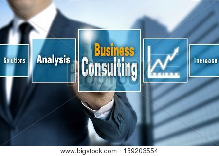 Business Consulting touchscreen concept background picture image