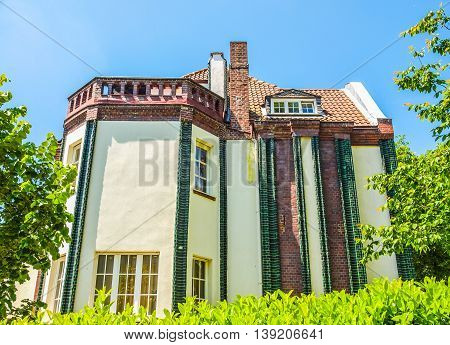 Behrens House In Darmstadt Hdr