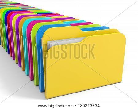 Row Of  Folders Icon.