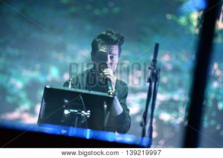 Artist Singing On The Stage