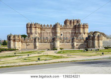 Coca Castle (Castillo de Coca) is a fortification constructed in the 15th century and is located in Coca in Segovia province Castilla y Leon Spain. poster
