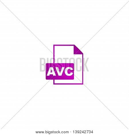 Avc Icon. Vector Concept Illustration For Design