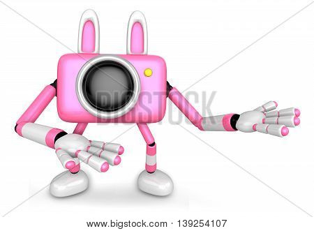 To The Right Toward The Pink Camera Character Guide You. Create 3D Camera Robot Series.