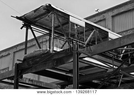 Abandoned Automotive Factory - Worn Broken and Forgotten