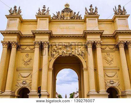 Brandenburger Tor In Potsdam Berlin Hdr