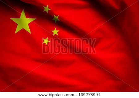 Flag of Peoples Republic of China- fabric background