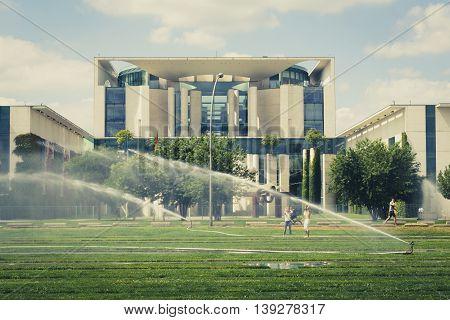 The German Chancellery ( Bundeskanzleramt) In Berlin