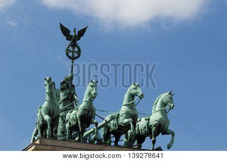 Pariser Platz Street Sign And Brandenburg Gate
