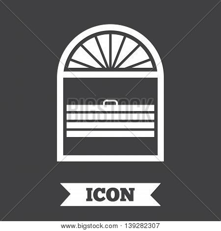 Louvers plisse sign icon. Window blinds or jalousie symbol. Graphic design element. Flat louvers plisse symbol on dark background. Vector