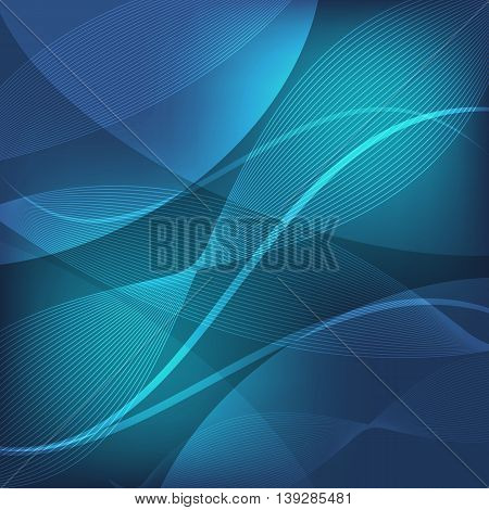 Abstract blue wave line background, stock vector
